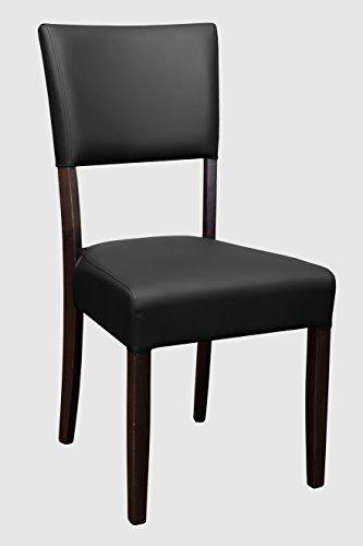 "VARILANDO 2er-Set Gastronomie-geeigneter PU-Leder-Stuhl ""Louis"" in 4 Farbvarianten Ess-Stuhl Gastronomie-Möbel"