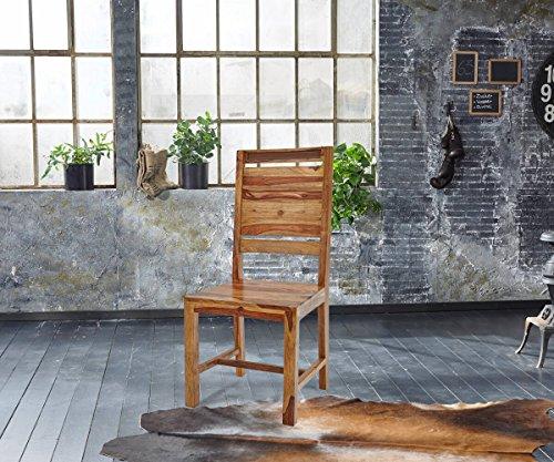Wolf Möbel Küchenstuhl Shan Sheesham Shina Massivholz Esszimmerstuhl