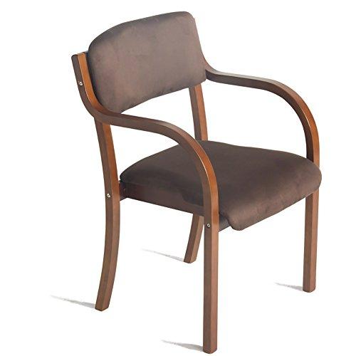 ZXL Massivholz Esszimmer Stuhl Restaurant Gästezimmer Schlafzimmer Wohnzimmer Braun Holz Farbe Modern Einfache Nordeuropa Mode Sessel