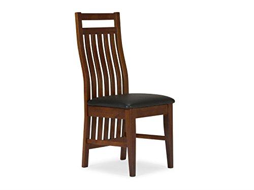 massivum Stuhl Suma 44x100x50 cm Rubberwood braun gebeizt und lackiert