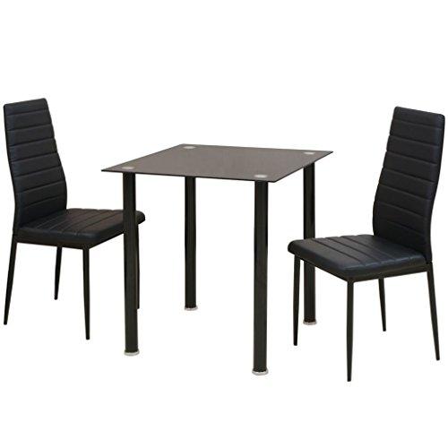 vidaXL 3/5tlg. Sitzgruppe Essgruppe Tischset Esszimmer Esstisch Stühle Tisch Kunstleder