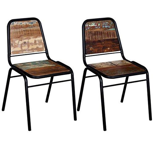 vidaXL Esszimmerstühle Lehnstühle 2/4/6 Stk. Recyceltes Massivholz 44x59x89 cm