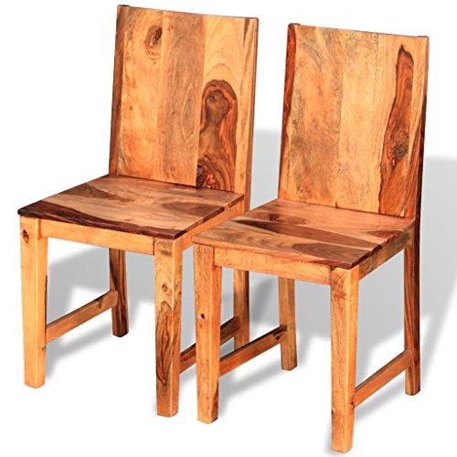 vidaXL Massivholz 2/4/6x Esszimmerstuhl Küchenstuhl Esszimmerstühle Sitzgruppe Sheesham …