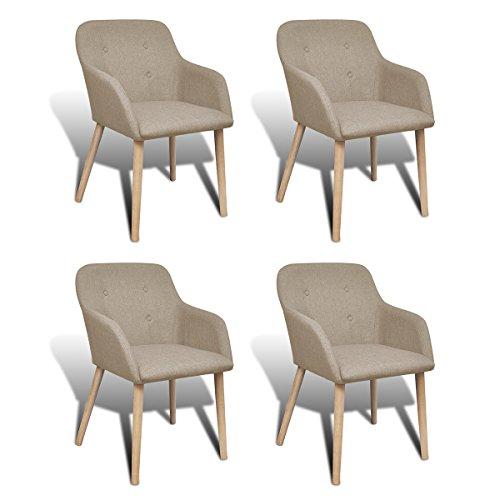 vidaXL 2/4/6x Stühle Stuhl Stuhlgruppe Esszimmerstühle Esszimmerstuhl Armlehne Eiche
