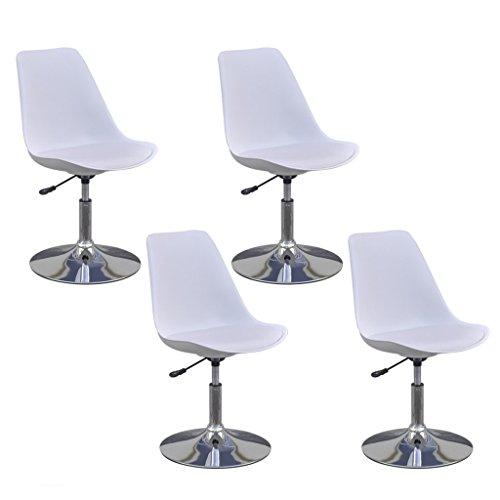 vidaXL 4x Küchenstuhl Höhenverstellbar Drehbar Kunstlederstuhl Esszimmerstuhl