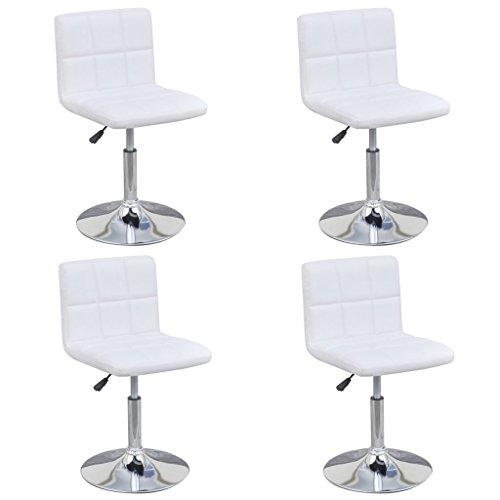 vidaXL 4x Küchenstuhl Höhenverstellbar Kunstleder Esszimmerstuhl Drehstuhl