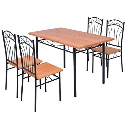 vidaXL Essgruppe Esstisch mit 4/6 Stühlen Esszimmerstühle Sitzgarnitur Sitzgruppe Stuhl