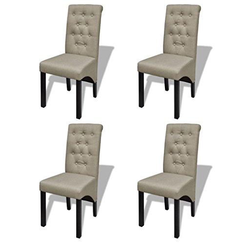vidaXL Esszimmerstuhl Esszimmerstühle Küchenstuhl Sitzgruppe Stoffbezug mehrere Auswahl