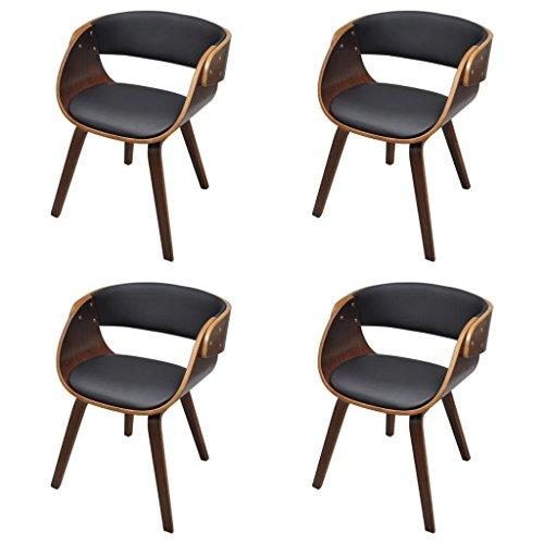 vidaXL Esszimmerstuhl Stuhl Esszimmer Stühle Sessel Esszimmerstühle Holzrahmen braun