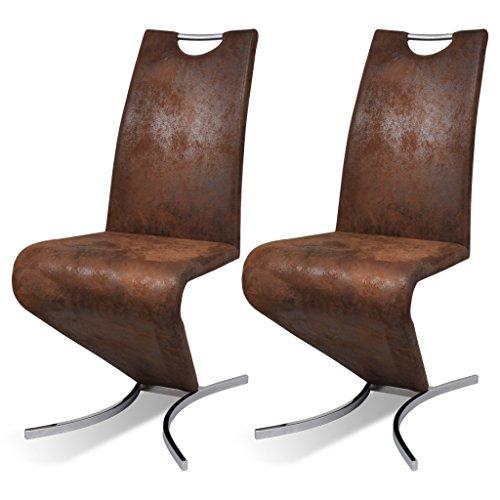 vidaXL Freischwinger Schwingstuhl Esszimmerstühle Stuhl Z Stuhl Sitzgruppe