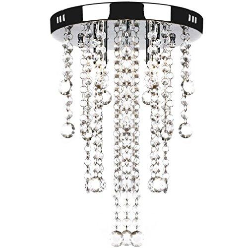 vidaXL Glitzernde Kristall Metall Pendelleuchte Kronleuchter Deckenleuchte Lampe