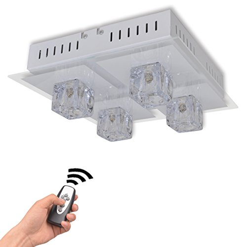 vidaXL RGB LED Decken Lampe Fernbedienung Wohnzimmer Leuchte Beleuchtung Farbwechsel