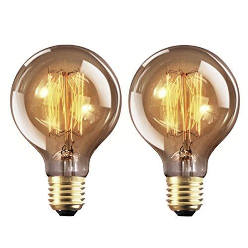 2 Stück G80 E27 Dimmbar Edison Glühbirne