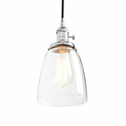 Phansthy Glas Pendelleuchte Vintage Industrial Hängelampe Glas Deckenleuchte Haus Dekoration Industrielle Licht für Loft Bar Esszimmer Kaffee Küche