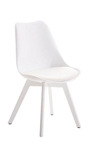 Besucherstuhl, Konferenzstuhl, Wartezimmerstuhl, Esszimmerstuhl, Küchenstuhl, Wohnzimmerstuhl, Wartestuhl, Messestuhl Stuhl Materialmix weiß #Borneo