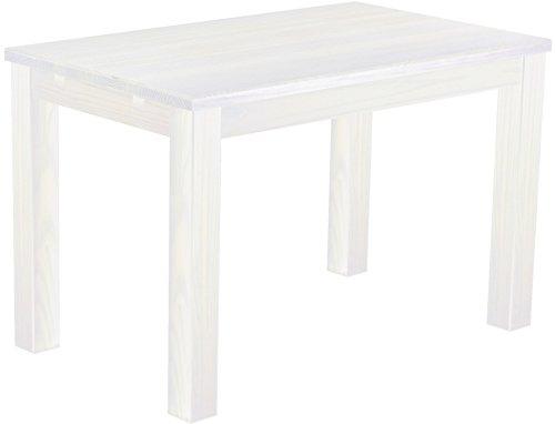 Brasilmöbel Esstisch 'Rio Classico' 120 x 73 x 77 cm, Pinie Massivholz, Farbton Weiß