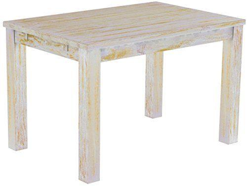 Brasilmöbel Esstisch 'Rio Classico' 120 x 80 cm, Pinie Massivholz, Farbton Shabby Honig