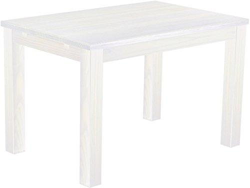 Brasilmöbel Esstisch 'Rio Classico' 120 x 80 cm, Pinie Massivholz, Farbton Weiß