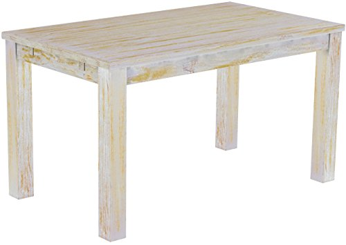 Brasilmöbel Esstisch 'Rio Classico' 140 x 80 cm, Pinie Massivholz, Farbton Shabby Honig