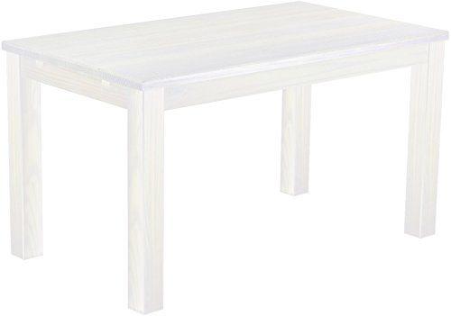 Brasilmöbel Esstisch 'Rio Classico' 140 x 80 cm, Pinie Massivholz, Farbton Weiß
