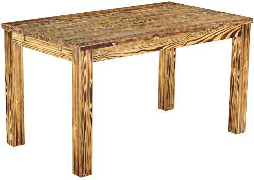 Brasilmöbel Esstisch 'Rio Classico' 140 x 80 cm, Pinie Massivholz, Farbton geflammt