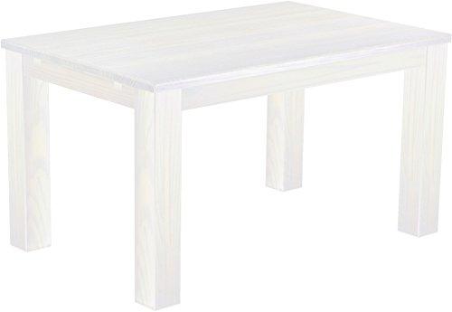 Brasilmöbel Esstisch 'Rio Classico' 140 x 90 cm, Pinie Massivholz, Farbton Weiß