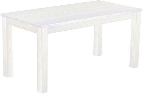 Brasilmöbel Esstisch 'Rio Classico' 180 x 80 cm, Pinie Massivholz, Farbton Weiß