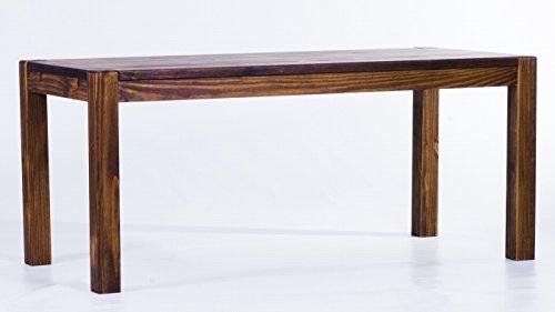Brasilmöbel Esstisch 'Rio Kanto' 140 x 80 x 78 cm, Pinie Massivholz, Farbton Eiche antik Cognac