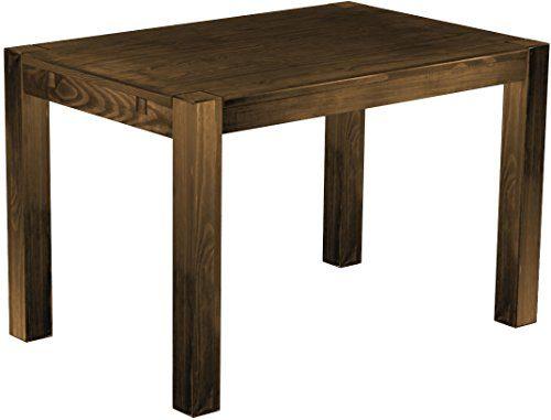 Brasilmöbel Esszimmer Tisch Rio, Pinie Massivholz, geölt und gewachst Eiche antik, L/B/H: 120 x 80 x 77 cm, Rio Kanto