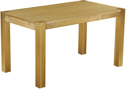 Brasilmöbel Esszimmer Tisch Rio, Pinie Massivholz, geölt und gewachst Farbton Brasil, L/B/H: 140 x 80 x 77 cm, Rio Kanto