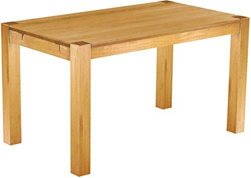 Brasilmöbel Esszimmer Tisch Rio, Pinie Massivholz, geölt und gewachst Farbton Honig, L/B/H: 140 x 80 x 77 cm, Rio Kanto
