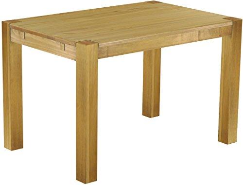 Brasilmöbel Esszimmer Tisch Rio, Pinie Massivholz, geölt und gewachst, L/B/H: 120 x 80 x 77 cm, verschiedene Farben, verschiedene Stile