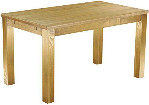 Brasilmöbel Esszimmer Tisch Rio, Pinie Massivholz, geölt und gewachst, L/B/H: 140 x 80 x 77 cm, Farbwahl, verschiedene Stile