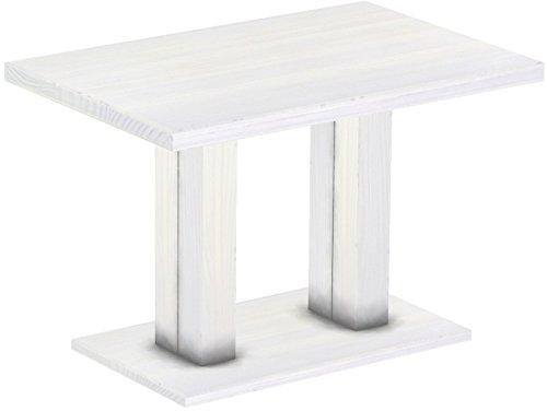 Brasilmöbel Restauranttisch Rio Duo, Pinie Massivholz, geölt und gewachst Weiß, L/B/H: 120 x 80 x 78 cm