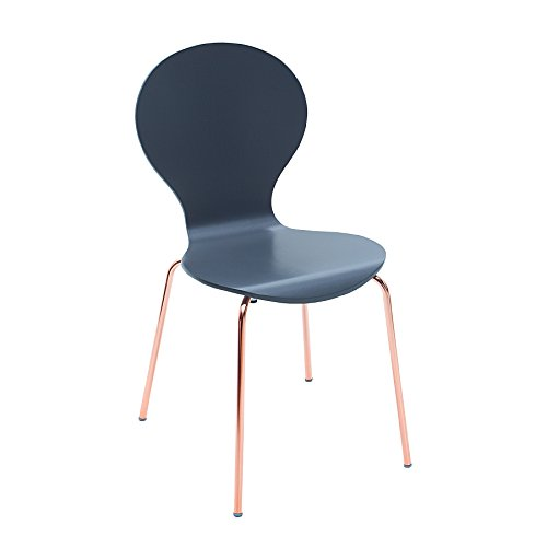 Design Stuhl FORM Designklassiker aus hochwertigem Formholz anthrazit kupfer stapelbar