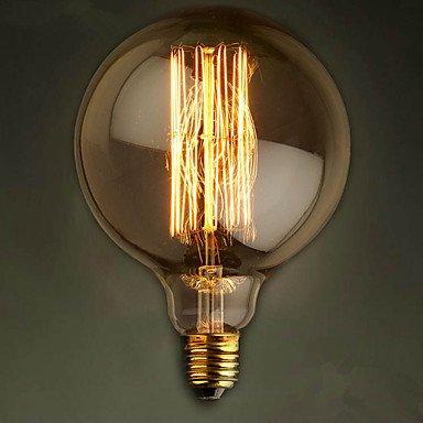 E27 G125 gerader Draht große Glühlampe Glühlampe Edison Retro dekorativen Glühbirne