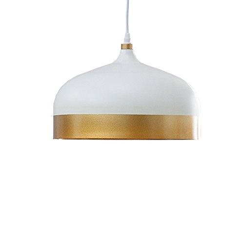 Elegante Hängeleuchte MODERN CHIC II weiß gold Pendellampe Tropfenform Hängelampe Esszimmer Beleuchtung