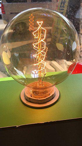 Elfeland Edison Glühbirne/Industrial Vintage Retro Stil/E27 40W Spiral Filament/für Hängelampe Wandleuchte Pendelleuchte/f 95mm Dimmbar
