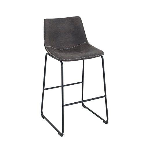 Invicta Interior Design Barstuhl Django Vintage Grau mit Eisengestell Barhocker Hocker Stuhl Hausbar