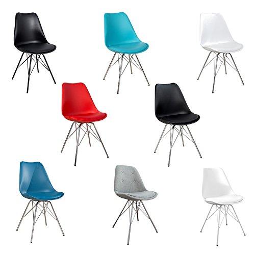 Invicta Interior Esszimmerstuhl Scandinavia Stuhl Farbwahl Verschiedene Farben Stuhl Küchenstuhl mit Moderner Sitzschale