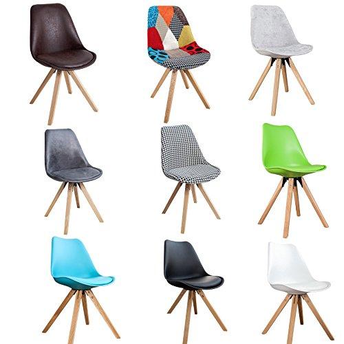 Invicta Interior Retro Designklassiker Stuhl SCANIA MEISTERSTÜCK Farbwahl mit Stuhlbeinen aus Eiche