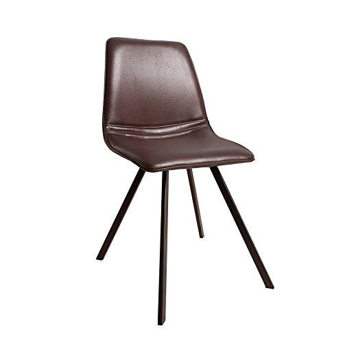 Invicta Interior Retro Stuhl Amsterdam Chair Braun Designklassiker Antik Look Esszimmer-Stuhl sternförmiges Gestell