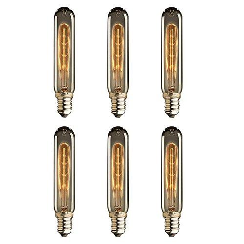 KJLARS 8 Vintage Glühbirne E14 40W Reagenzglas T18 Retro Edison Glühlampe Leuchtmittel