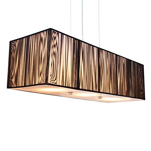 Kunstvolle Art Deco Hängeleuchte EXTENSO 80cm schwarz Designobjekt