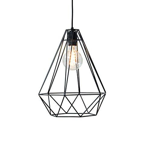 moderne h ngeleuchte cage l schwarz industrial design. Black Bedroom Furniture Sets. Home Design Ideas