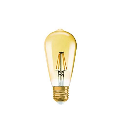 Osram LED-Lampe | Sockel E27 | Dimmbar | Warm White (2400 K) | ersetzt Glühlampen mit 51 W | Klar | Vintage 1906 LED