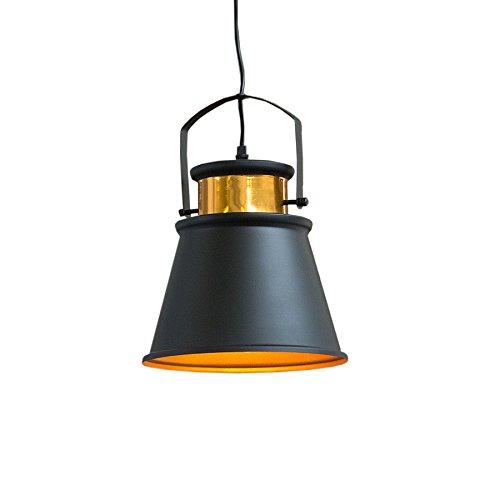 Retro Hängeleuchte LUZ II schwarz gold Industrial Design E27 Hängelampe Pendelleuchte Industrielampe Industrieleuchte