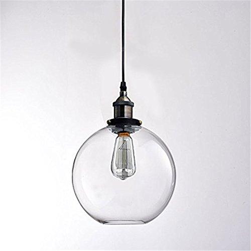Sflash Pendelleuchte Hängeleuchte Industrie Kugel Glas Schirm Retro Nostalgie Vintage Decke Hängelampe für E27 Glühlampe Lampe