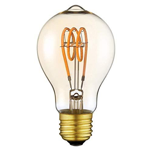 Vintage Edison Glühbirne LED Lampe Birne ST64 mit E27 Sockel Doppelt Flexibel Filament Dimmbar Warmweiß (2200 Kelvin) 160 Lumen Ersetzt 25 Watt Bernstein 220V [Energieklasse A++]