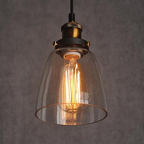 Vintage Industrie Nordic amerikanisch Glas Lampeschirm kreative Einzelglasschirm Hängelampe Kronleuchter retro Licht Lampe Edision